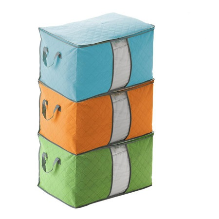 Colorful storage bag bamboo charcoal thickening plus size clothing quilt storage bag box sorting bags storage bags(China (Mainland))