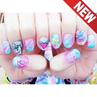 Harajuku HARAJUKU nail art multicolour watermark stickers new arrival diy finger stickers