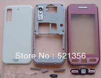Dropshipping+1pc Pink s5230 housing case replace keypad repair faceplates for Samsung S5230 cell phone