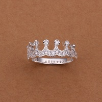 TR010 Free shipiping  wholesale  925 silver crown ring,high quality ,fashion/classic jewelry, Finger, Ring Factory price