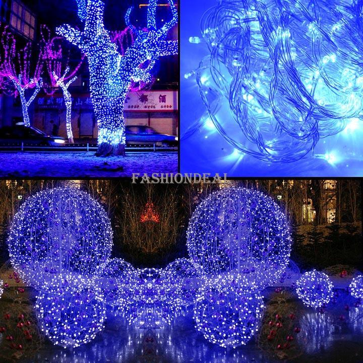 Compra navidad de color azul claro online al por mayor de - Deco de noel lumineuse pas cher ...