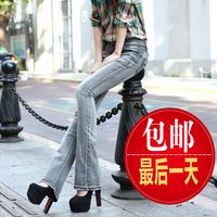 Free shipping Low-waist denim bell-bottoms Slim women big yards wide leg jeans