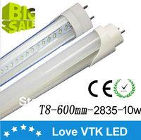 led bulbs tubes/2ft 10w 48pcs smd 2835 ac85-265v to replace 20w fluorescent tubes,t8 led tube 600mm free shipping 50pcs / lot