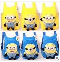 Free Shipping cartoon bag cool kids unisex backpacks cute boy and girl bookbag children knapsacks yellow blue #X0502