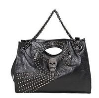 Freeshipping Best Selling Skull Design Chain Beading Women Fashion Handbags Messenger Shoulder Bags Black H034