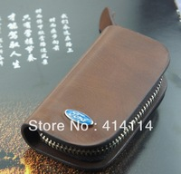 Auto for Ford focus key wallet cover shell keyrings key holder key bag case keychain genuine leather car accessories