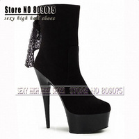 Wholesale 2014 autumn single women's ankle boots platform fashion martin 15cm lace boots female short boots 6 inch high heels
