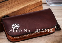 Auto for Volkswagen VW key wallet cover shell keyrings key holder key bag case keychain genuine leather car accessories