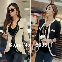 Fashion European Style Lady Girls Cotton Long Sleeves Slim Suit