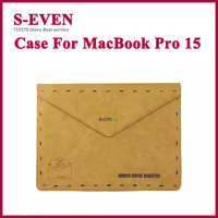 Retail Matte Pu Leather Protective Case For Apple MacBook Pro 15 Retro Cover  Free Shipping