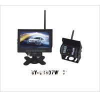 Car/Truck Wireless Auto Reversing Monitor with Wireless Camera, 7inch Rear View Monitor BY-08307W