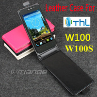 ThL W100 W100S Case, New High Quality Genuine Filp Leather Cover Case For ThL W100 W100S case free shipping 3 Colors