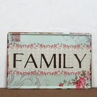 FAMILY Vintage tin Sign HOME DECOR Art wall decor House Cafe Bar Vintage metal painting Mix order M-106 20*30 CM