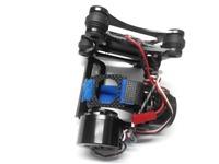 F07464 Aluminum 2-Axis Gimbal Camera Mount PTZ Brushless Motor Controller for Gopro 2/3/3plus FPV DJI Phantom Black freeship