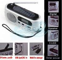 Solar Powered Flashlight Dynamo Power Flashlight