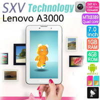 Original Lenovo A3000 3G tablet pc with Android4.2 MTK8389 Quad Core 1.2GHz 1G RAM/4G ROM Built in 3G Bluetooth Wifi OTG Camera