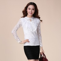 Fall 2013 new Korean doll lace collar bottoming bottoming shirt long sleeve shirt Slim