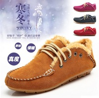 New 2013 Woman Genuine Leather Boots Shoes,Woman Ladies Winter Warm Fur Shoes Boots,Oxford Nubuck Shoes Snow Shoes Ankle Boots
