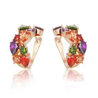 The Mona Lisa stud earring luxury zircon gold-plated women stud earring bridal jewelry free shipping