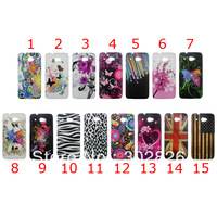 UK USA Flag,Flower Pattern Hard Case Cover For HTC Desire 601
