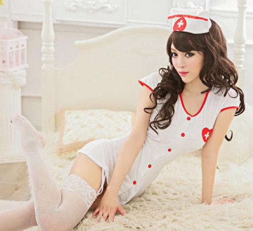 Details about New White Nurse Women Sexy Li