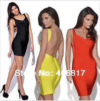 HOT Sexy Dress Best Selling 2014 New Arrival Backless bodycon dress club party wear sexy Ladies Bandage dresses sexy dresses