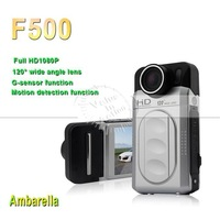 Original car dvr F500 video recorder Night Vision Full HD 1920x1080P ambarella 120 degree View Angle dvr mirror a7 new 2013