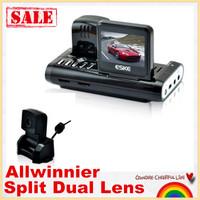 "Free shipping!Split Dual Lens E-103  Allwinner Mini 2.0"" Car DVR recorder  car camera cycle recording Wide Angle night vision"
