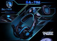 Free shipping enthusiast & Cool Video Game Headphone Headsets 40mm speaker game earphones HIFI headband computer voice headset