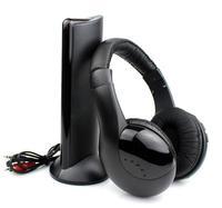 Wireless Monitor FM radio for MP4 PC TV Audio, 5 in 1 HIFI Wireless Headphone Earphone Headset Free Shipping
