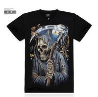 Promotion sale Skull rock 3d t shirt hip hop reserva famous band men original short sleeve Top tees mens roupas masculinas