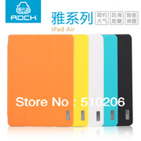 ROCK Elegant Series Leather Case For iPad Air , PU Leather + PC Back Cover For iPad 5 ,MOQ:1pcs free shipping