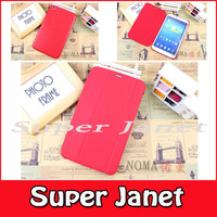 Freeship 200 Pc/lot Flip PU Leather Book Cover Smart Case With Sleep-Wake For Samsung Galaxy Tab 3 8.0 T310 T311 Multi-Color