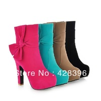 2013 New arrivel boots fashion bow woman boots princess boots women's casual shoes wedding shoes