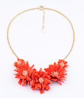A fashion the trend of fashion accessories exquisite handmade flower pendant sweater necklace popular