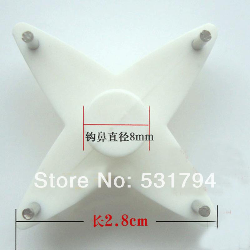 Free shipping! Photo invisible hook parts picture hanging hook traceless hook hook nail wall seamless frame slot 4X(China (Mainland))