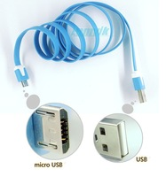 Soft and colorful USB cable 100cm length from USB to micro USB for charging and data transmission