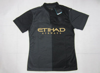 Thailand Quality 13/14!!! Manchester city Away Black Soccer Shirt,Player Version Man City Soccer Jersey+Free Shipping