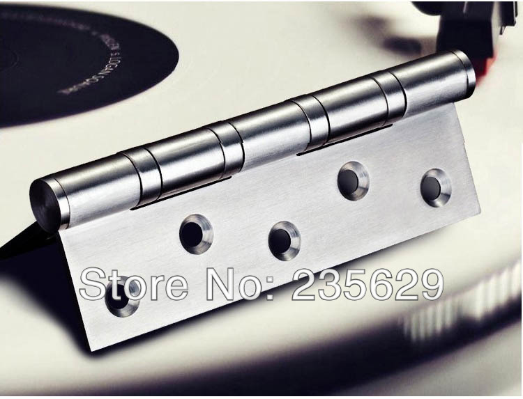 Free Shipping, 380g,SUS 201 brushed stainless steel Hinges for timber door / Metal Door, ball bearing hinge, no noise, long life(China (Mainland))
