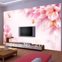 Free shipping fantasy flowers background wallpaper bedroom living room wallpaper flower wallpaper mural wallpaper