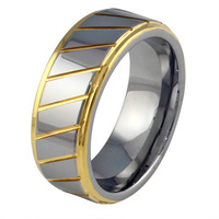 men's ring 18K gold/silver  tungsten carbide ring cool ring for man wedding ring  TR-02