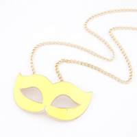 New brand2013 SALE! The European and American fashion personality mask hitting scene long necklace Free shipping