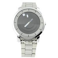 Hotsale Silver Black PAIDU Quartz Wrist Watch Turntable Dial Mens Clock Analog Gift,men's watch