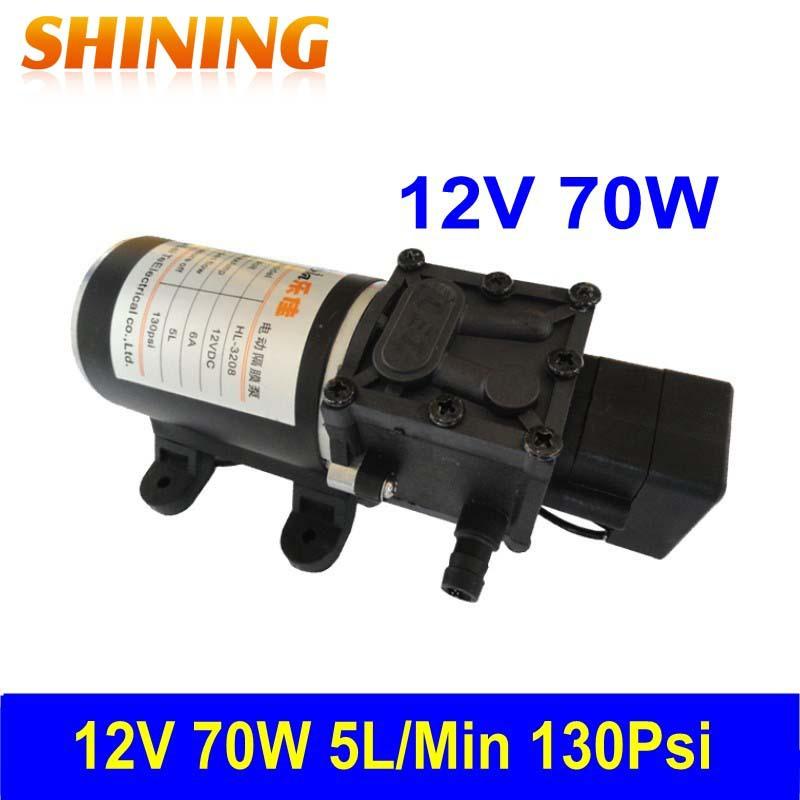 130 Psi Super High Pressure 12V Micro Mini Self-Priming Diaphragm Pump, Car Washing Pump, Circulation Pump/ Filtering Pump(China (Mainland))