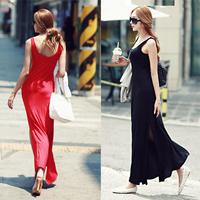party dress/ Elegant  placketing sexy dress /sleeveless slim dress