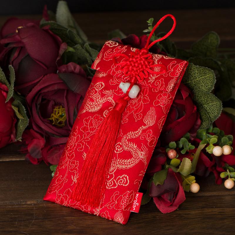 Vietnamese Wedding Gift Red Envelope : cloth wedding red envelope Chinese knot personalized mini wedding ...