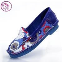 new 2013  fashion shoes genuine leathe flats  color block decoration flower Moccasins women's flat casual shoes