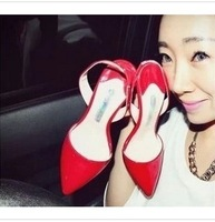 3Colors Fashion Western Style Shoes open pointed toe high heel sandals quality Sexy Shoes 6