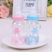 Free Shipping 50 pcs/lot Baby Feeding Bottle Wedding Candy Boxes/Favor Box//Party Favors