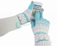 Warm Pattern Phone Tablet PC Touch Gloves Capacitive Screen Touchscreen Gloves Touch Gloves Drop/Free Shipping